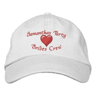 Bachelorette  party  personalized heart baseball cap