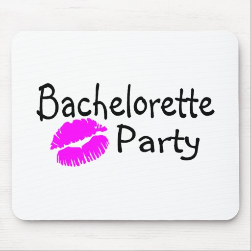Bachelorette Party Pink Lips Mouse Pads