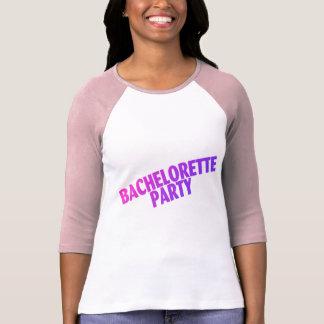 Bachelorette Party Pink Purple Blue T Shirt