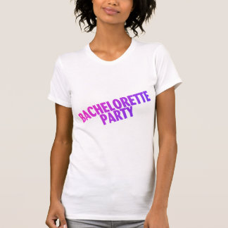 Bachelorette Party Pink Purple Blue Tees