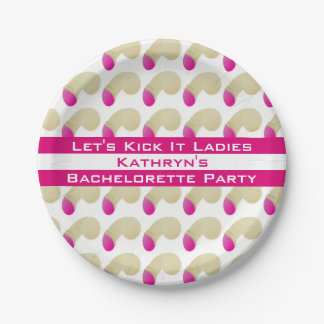 Bachelorette Party Pretty Falos Paper Plate