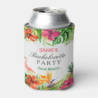 Bachelorette Party Rustic Tropical Floral Flamingo