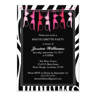 Bachelorette Party | Zebra 5x7 Paper Invitation Card