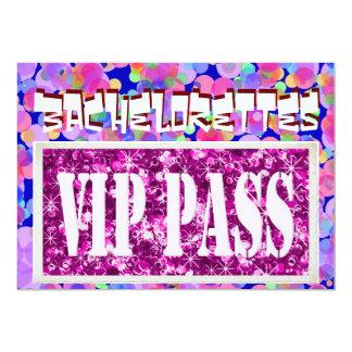 Bachelorette pink balloons vip party invitation
