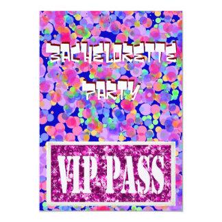 Bachelorette pink party invitation