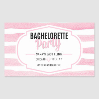 Bachelorette | Pink Stripes | Sticker