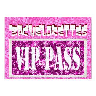 Bachelorette pink vip party invitation