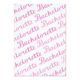 Bachelorette Script Diagonal Repeat Pattern Pinks Personalized Invites