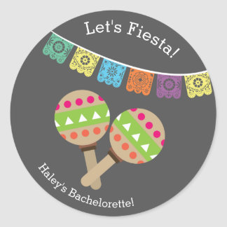 Bachelorette Sticker- Last Fiesta Classic Round Sticker