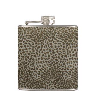 bachelorette wedding shower birthday leopard hip flask