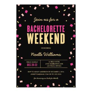 Bachelorette Weekend Itinerary Invitation