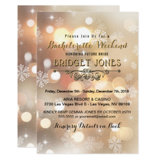 Bachelorette Weekend Party Itinerary Snowflakes Card