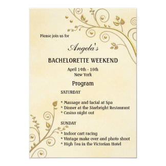 Bachelorette Weekend Program Template Invitation