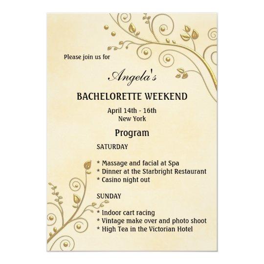 Bachelorette weekend program template invitation zazzle bachelorette weekend program template invitation stopboris Images