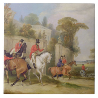 Bachelor's Hall, The Meet, 1835 (oil on canvas) Tile