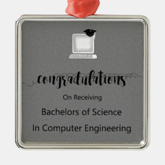 Bachelors of Science in Computer Engineering Metal Ornament