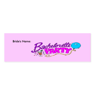Bachlorette Party Profile Card - Personalized Business Card
