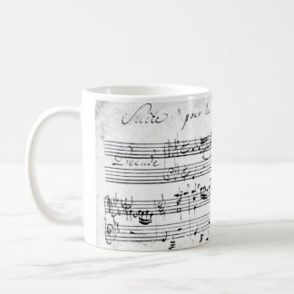 Bach's Lute Suite Coffee Mug