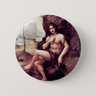 Bachus By Leonardo Da Vinci (Best Quality) 6 Cm Round Badge