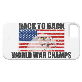Back 2 Back World War Champs US Flag Distressed Case For The iPhone 5
