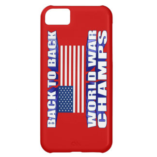 Back 2 Back World War Champs US Flag iPhone 5 Case