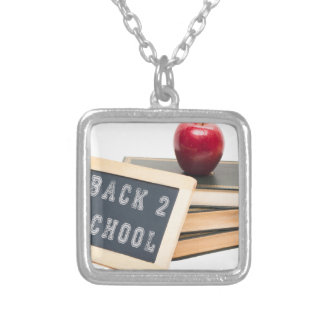 Back 2 School Silver Plated Necklace