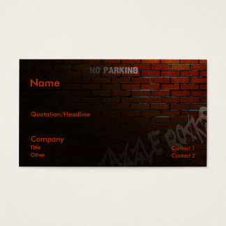 Back Alley Business Card