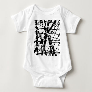 Back and white lines - design by Moma Baby Bodysuit