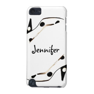 Back and White Polka Dot Designer Shoe iPod iPod Touch 5G Cover