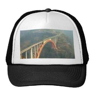 Back Design - Bridges, Forest n Green Layers Cap