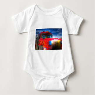 Back Draft Fire Truck Baby Bodysuit
