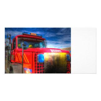 Back Draft Fire Truck Card