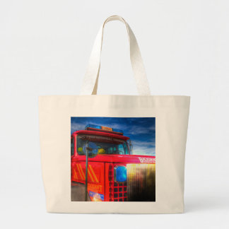 Back Draft Fire Truck Large Tote Bag