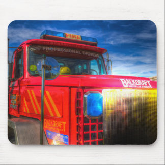 Back Draft Fire Truck Mouse Pad