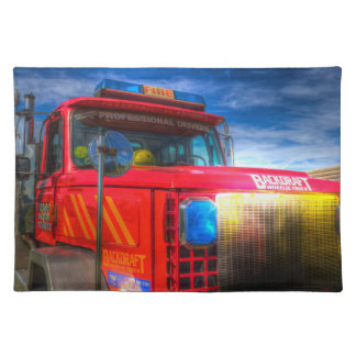 Back Draft Fire Truck Placemat