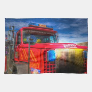 Back Draft Fire Truck Tea Towel