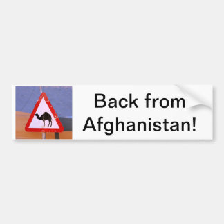 Back from Afghanistan Bumper Sticker