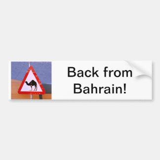 Back from Bahrain Bumper Sticker