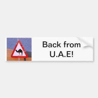 Back from U.A.E. Bumper Sticker