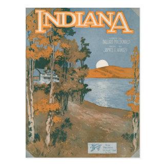 Back Home Again In Indiana Postcard