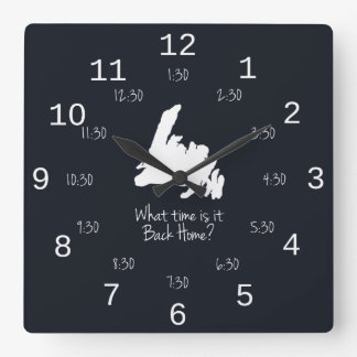 Back Home Time - EST edition Square Wall Clock