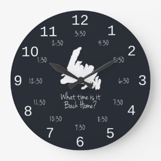 Back Home Time - MST edition Large Clock