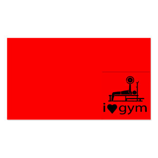 BACK IN BLACK RED I LOVE THE GYM WORKOUT WEIGHTLIF BUSINESS CARD TEMPLATES