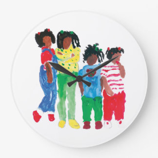 """Back In The Day"" Round (Large) Wall Clock"