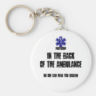 Back Of Ambulance No One Can Hear You Scream Key Ring