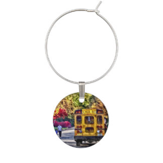Back of School Bus Wine Charms