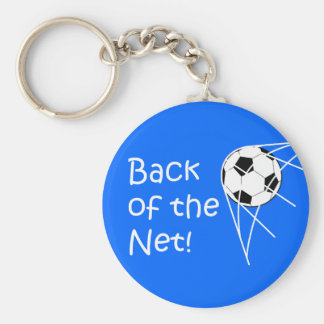 Back Of The Net! Basic Round Button Key Ring