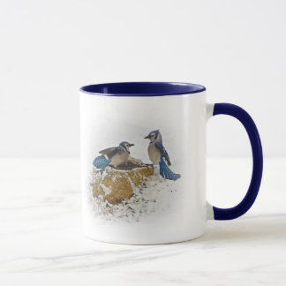 Back Off - Blue Jay Birds Mug