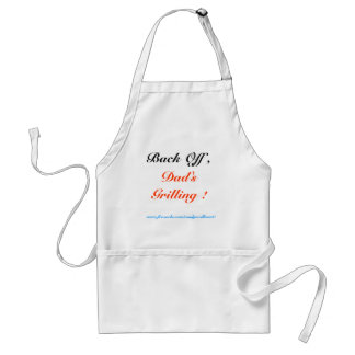 Back Off , Dad's Grilling ! Apron