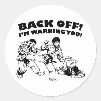 Back Off Round Sticker